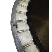 Capetan® Fit Fly Silver To Fold sklopivi trampolin 122cm, sa srebrnasto sivom spužvom za zaštitu opruga, kapacitet opterećenja 200kg