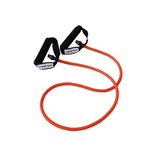Capetan® Elastična  fitness tube - gumeno uže -  s mekanim pjenastim držanjem.  Slabe jačine.