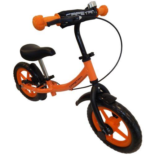 """Capetan®Sirius Premium Line Narančasta bicikla/guralica sa kočnicom, blatobranom i zvončićem sa 12"""" kotača - dječja bicikla bez pedala."""