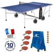 Cornilleau Crossover 100 outdoor  plavi stol za stolni tenis otporan na vremenske uvjete, za uporabu  za vansjki prostor, s  obiteljskim paketom i dodatnom opremom – besplatna dostava