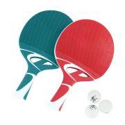 Cornilleau Tacteo Duo Pack ( Composite) set  pingpong reketa za vanjsku uporabu, sa lopticama