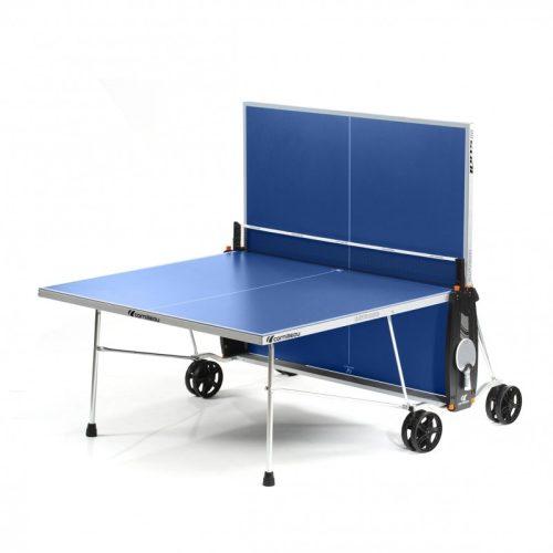 Cornilleau Crossover 100  Outdoor PLAVI Vanjski stol za ping pong s nožicom za niveliranje, mogućnost odabira solo igranja
