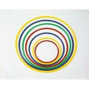 Ravan, fleksibilan obruč za gimnastiku promjera 40 cm, u raznim bojama, uklapa se u psihomotoričke setove i čunjeve.