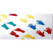 Gumeni set znakova za ruke i noge, 44 komada