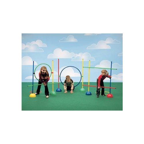 Psihomotorički rekreacijski park, veliki osnovni set s glavnim elementima karakteristike lego kocki.