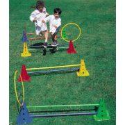 Tactic Sport Aktivna igra set za razvoj pokreta, Saltarello Maxi sa 50 cm visokim, šupljim čunjevima sa zaobljenim potplatom