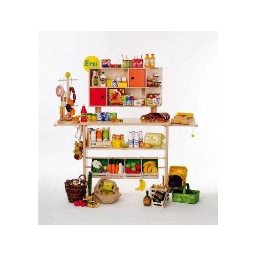 Drveni, trgovački pult, z igranje uloga u trgovini, bez prodajnih proizvoda