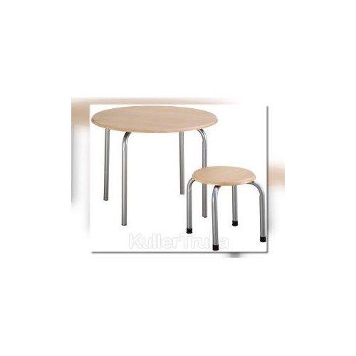 Dječji stol s metalnim nogama, visine 52 cm.