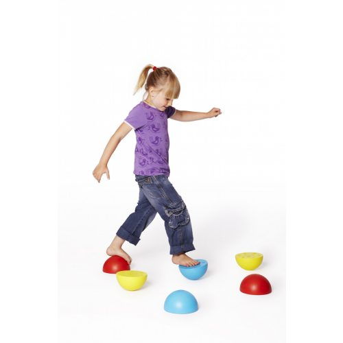 Otežane polukugle za balansiranje i koračanje, set od 6 komada – Gonge