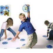Kamen za hodanje od mekane gel-gume, serija u plavoj boji, set od 4 komada – Gonge za razvoj pokreta