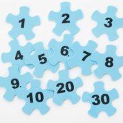 Gel guma za kamen za hodanje, umetak brojevi set od 12 komada – Gonge