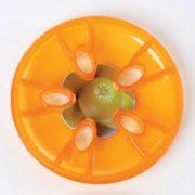 Kamen za hodanje od mekane gel-gume, serija u narančastoj boji, set od 4 komada – Gonge za razvoj pokreta