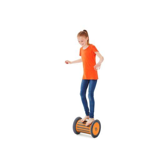 Gonge valjak (bubanj) za kotač za trčanje, za razvijanje pokreta, narančasta boja