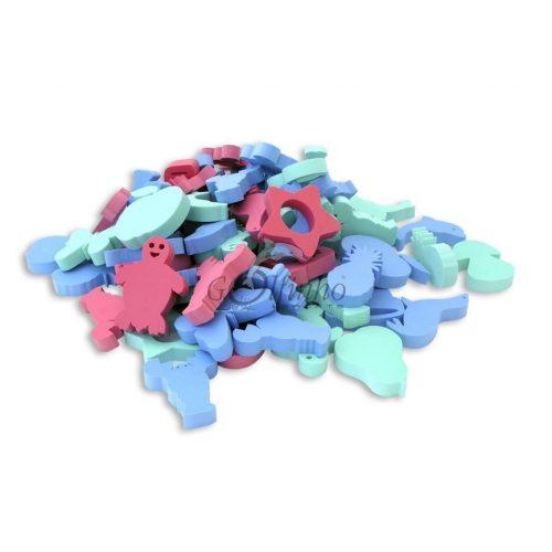 Serija igračaka prostornih oblika, od 50 elemenata, veličine  15x3cm, od EVA pjene