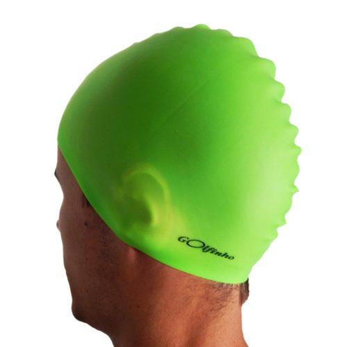 Silikonska kapa za plivanje –Neonsko zelena – 50 gr., 100% silikon