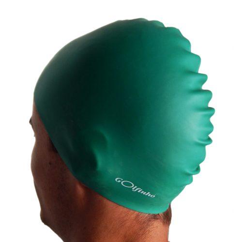 Silikonska kapa za plivanje, zelena
