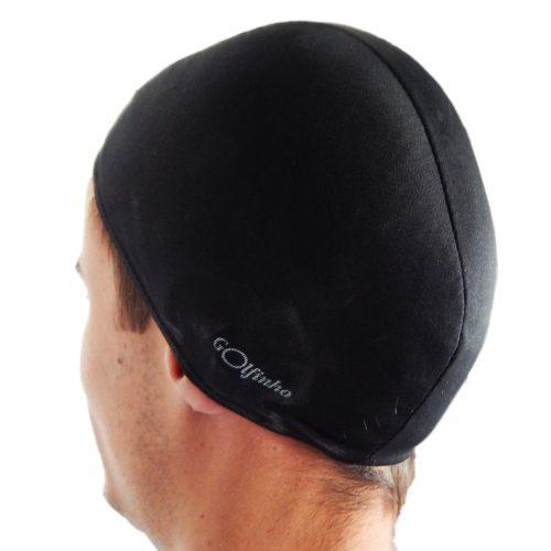 Poliesterska kapa za plivanje, crna, elastični tekstil