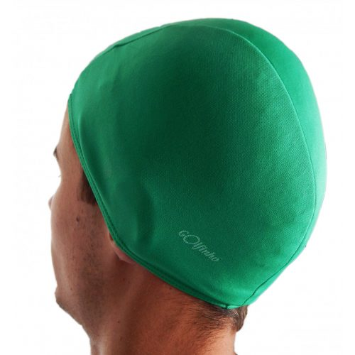 Poliesterska kapa za plivanje, zelena, elastični tekstil