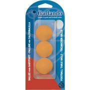 Garlando Standard 3 narančaste upakirane loptice za stolni nogomet