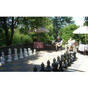 Capetan® Aveo vanjski šahovski set s velikim figurama 64-43 cm plastičnim figurama otpornima na vremenske uvjete