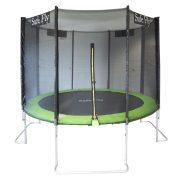 Capetan® Safe Fly je ekstra stabilan sa jedinstvenim zakrivljenim nogama, premium sigurnosni trampolin sa sigurnosnom mrežom promjera 305 cm