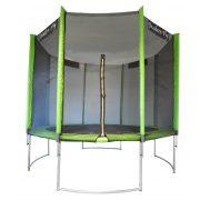 Capetan®Modern Fly sa zakrivljenom strukturom nogu protiv prevrtanja promjera 305 cm, trampolin za vanjsku upotrebu, sa PVC stupovima za držanje mreže,  ekstra visokom zaštitnom mrežom i visokom površinom skakanja