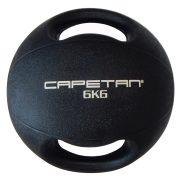 Capetan® Professional Line 6Kg gumena medicinska lopta sa dvije ručke (pluta na vodi) -6kg Cross Training medicinska lopta sa drškom