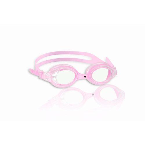 Malmsten ESOX pink zaštitne naočale za plivanje za juniore, prozirne polikarbonatne leće