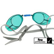 Švedske naočale za plivanje sa  prozirnim lećama zelene-green, naočale za natjecanja odobrene od FINA