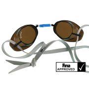 Švedske naočale za plivanje dimnosiva, sa  prozirnim lećama.Nije antifog izvedba. Naočale za natjecanja odobrene od FINA , Malmsten