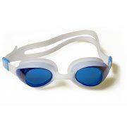 Malmsten Aqtiv naočale za plivanje za odrasle, leća plave boje, okvir bijeli, u futroli sa patent zatvaračem