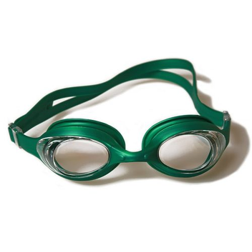 Malmsten Aqtiv naočale za plivanje sa zelenim okvirom, prozirna leća, futrola sa patent zatvaranjem