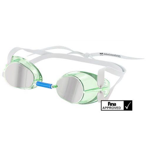 Švedske natjecateljske naočale za plivanje Jewel Collection najnoviji model odobren od Fina-e – Tourmaline  zelene boje