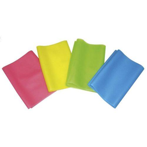 Gimnastička elastična gumena  traka 30 m 0,35mm fitband,srednje jačine pink boje