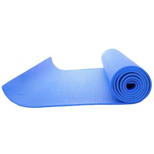 Gumirana strunjača za jogu s hrapavom površinom, . u plavoj boji, 170x60x0,4cm
