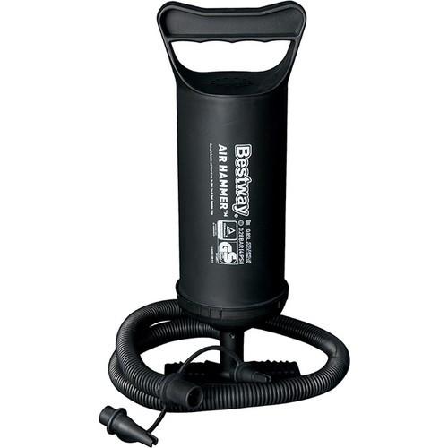 Mini pumpa za kampiranje sa stopalom (30 cm) Crna, 0.85 L Kapacitet / Hod, Povratno puhanje, 3 adaptera
