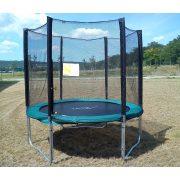 Capetan® Olive trampolin sa 25% povećanim brojem opruga, 2,44 m promjera s zaštitnom mrežom, nosivosti 180 kg, opruge 60kom - Zbog povećanog broja opruga, najtrajniji trampolin