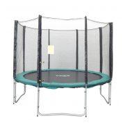 Capetan® Olive promjera 305 cm s 4 W noge s 8- stupa vanjski trampolin set sa zaštitnom mrežom, 160kg kapaciteta , 64komopruge - najstabilniji trampolin zbog povećane noge i opruga