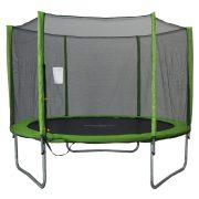 Capetan® Omega trampolin promjera 244 cm sa zaštitnom mrežom,u Lime boji - ojačana konstrukcija, trampolin s sigurnosnom mrežom, 2cm debela spužva za zaštitu opruga