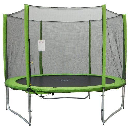 Trampolin Capetan® Selector Lime 366cm promj. 180kg nosivosti, s dugačkim stupovima zaštitne mreže ,specijalno pričvršćivanje okvira T-elementom ojačan trampolin s iznimno visokom zaštitnom mrežom – vanjski trampoli n s debelom spužvom, 80 cm visoka