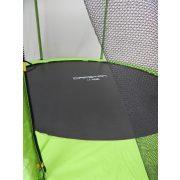 Trampolin Capetan® Selector Lime 397cm promj. 180kg nosivosti, s dugačkim stupovima zaštitne mreže ,specijalno pričvršćivanje okvira T-elementom ojačan trampolin s iznimno visokom zaštitnom mrežom – vanjski trampolin s debelom spužvom, 80 cm visoka