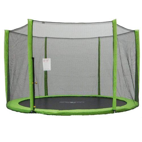 Capetan® 244 cm trampolin, zaštitna mreža za Selector Lime i Omega Lime trampolin  s jastučnicom za stupove neon boje za modele sa 6 stupa
