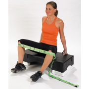Elastiband® fitness pojačalo  Gumeni Multiremen, gumirani remen srednje čvrstoće elastiband tekstilna traka,duga zelena 10kg otpornost, srednja 110x4cm