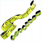 Elastiband® Fitness pojačalo gumeni remen srednja čvrstoća, 8x10cm prošiveni razdjeljak, žuta, 10kg otpor, srednje 80x4cm