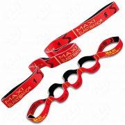 Elastiband® pojačalo za fitness gumeni remen Maxi dugi, crveni, 10kg srednji otpor, 110x4cm, 5 komada 22cm sekcije