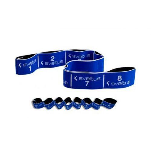 Elastiband® gumeni remen pojačalo za fitness, plavi 20kg snažan otpor, 8 odjeljka, 80x6cm