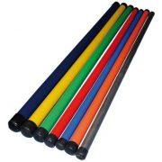 Otežana gimnastčka  palica 1,5 kg za vježbe fitnesa, duljinom 105 cm, narančaste boje.