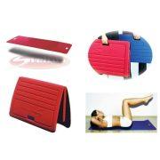 Gimnastički tepih 140x60x1cm sa antibakterijalnim, tekstilom prevlačenim površinama, sa vješanjem, savijanjem i ručkama za prijenos.