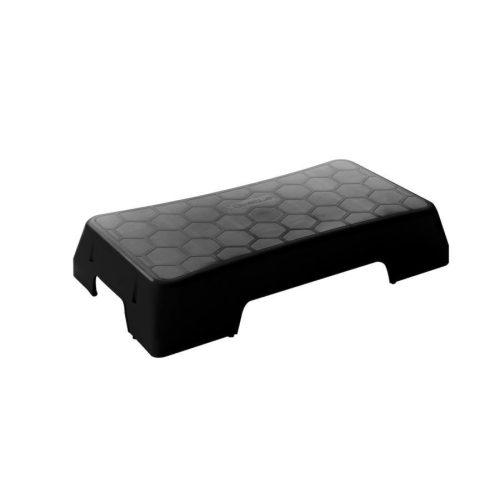 Sztepp klupa Sveltus Ecooriginal – crna, može se gomilati, opcionalno se može povisiti, dimenzije 75x38x14 cm.