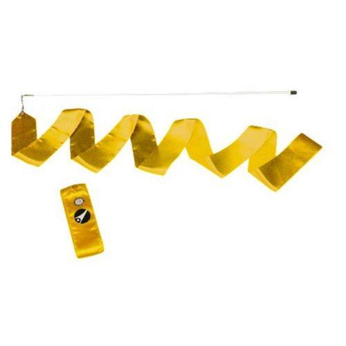 Tactic Sport 6 m duga traka za ritmičku gimnastiku i palica- žute boje